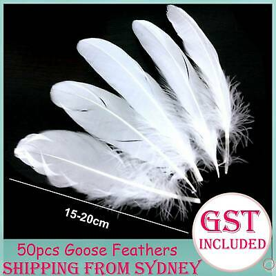50pcs 15-20cm White Goose Feathers Feather DIY Crafts Natural Beautiful Wedding