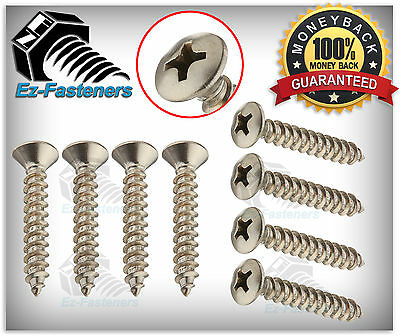 "NEW Oval Head Phillips Drive Sheet Metal Screws Stainless Steel #8 x 1"" Qty 100"