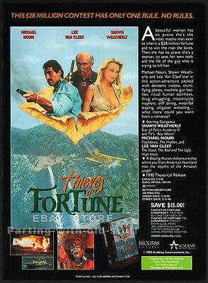 THIEVES OF FORTUNE__Original 1990 Trade AD promo__LEE VAN CLEEF__SHAWN WEATHERLY