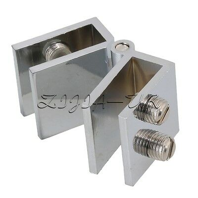 180C Opening Glass Door Cupboard Cabinet Clamp Hinge for 5-8mm Glass Thickness