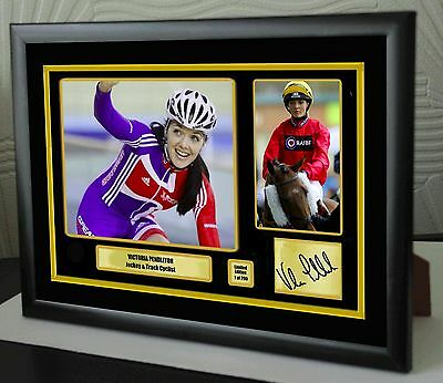 "Victoria Pendleton Limited Edition Framed Canvas  Print Signed ""Great Gift"""