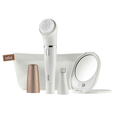 Braun Face 831 Womans Ladies Facial Hair Cleansing Brush And Mini Epilator