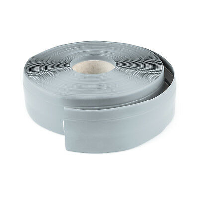 ASH GREY FLEXIBLE SKIRTING BOARD 32mm 23mm PVC floor wall joint cover soft coved