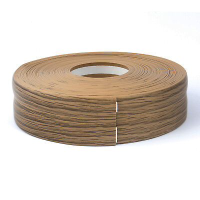 OAK FLEXIBLE SKIRTING BOARD 32x23mm PVC strip finishes edges floor wall cover