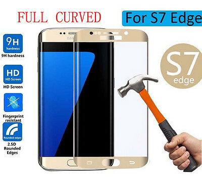 100% Genuine Samsung Galaxy S7 Edge 3D Curved Tempered Glass Screen Protector UK