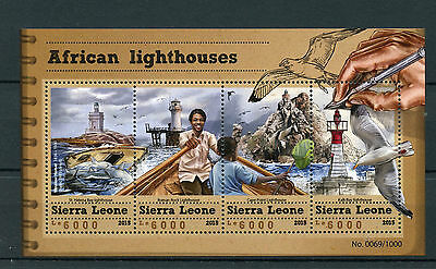 Sierra Leone 2015 MNH African Lighthouses 4v M/S Kalk Bay Cape Point Lighthouse