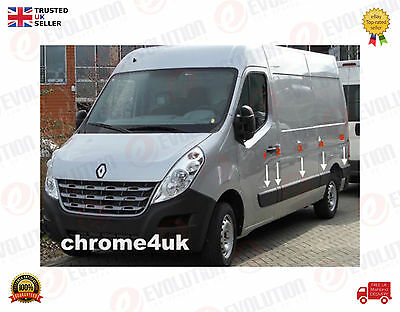 Renault Master Iii Side Door And Body Moulding 6 Pieces 2010  N/s Swb & Lwb