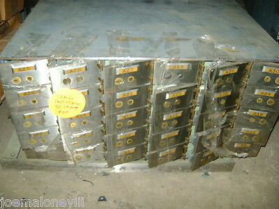 Bank Safe Safety  Deposit Box 30 Compartment Cabinet
