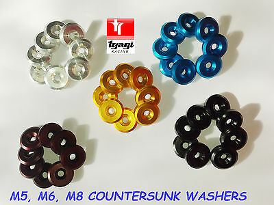 M5X22X5 Countersunk Aluminium Colored Washers Turned Fender Fairing Alloy