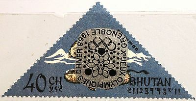 BHUTAN 1968 189 I A 93 INVERTED Winter Olympics Grenoble ovp ÜD Yeti MNH