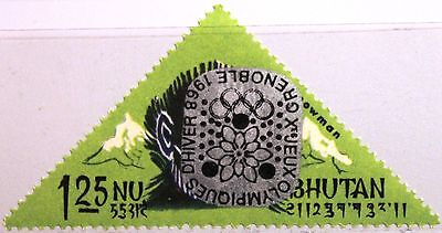 BHUTAN 1968 190 I A 93A INVERTED Winter Olympics Grenoble ovp ÜD Yeti MNH