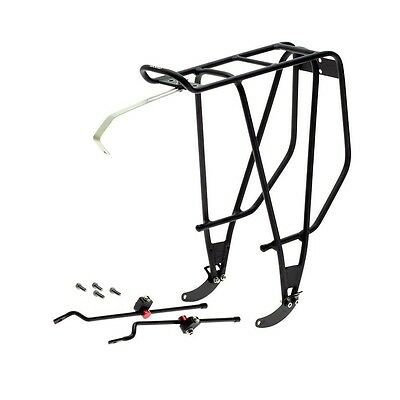 "Axiom Streamliner Disc DLX Rear Bicycle Rack 26"" 700c-New Easy mount-110lb cap"