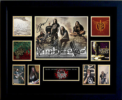 Lamb Of God Signed Limited Edition Framed Memorabilia