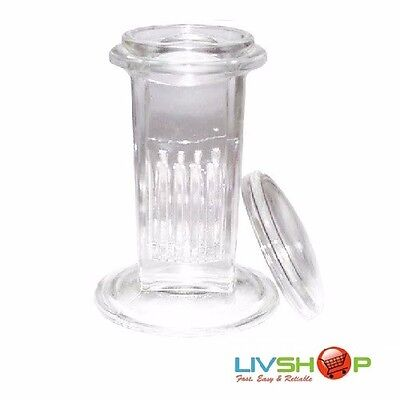 Glass Coplin Jar With Glass Lid, Each European