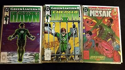 GREEN LANTERN EMERALD DAWN + EMERALD DAWN #2 + MOSAIC x17 Comics FULL RUN NM