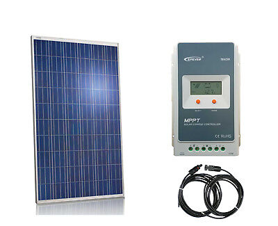265W Solar Panel Kit 20A MPPT charge controller Cable panneau solaire RV Boat