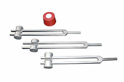 3 Weighted Tuning Forks for Wierd Effects w Activ+Pouch