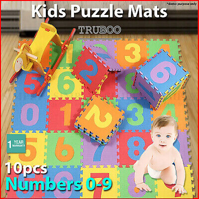 Kids Foam Mats Baby EVA Mat Interlocking Play Playmat Floor Puzzle Puzzles 0-9