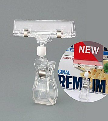 Professional Display 8 Pack Rotatable POP Clip Sign Stand Holder, New, Free Ship