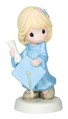 Precious Moments Graduation Girl Holding Diploma and Cap Figurine, New, Free Shi