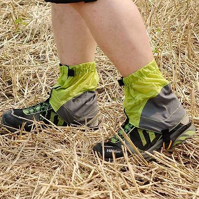 Silicon Coated Nylon Waterproof Gaiters Leg Protection Guard Hiking TM B4W9