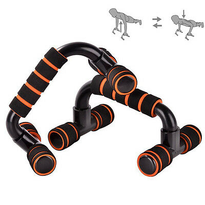 Push Up Bar Stands H-Type Handles Exercise Fitness Enquipment Slimming Workout