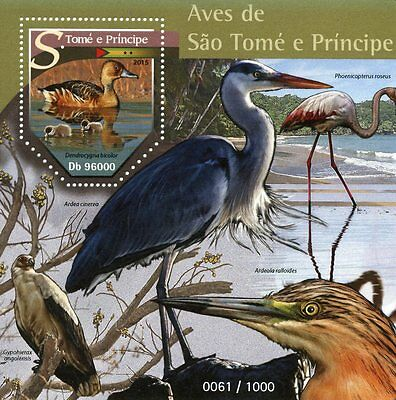 Sao Tome & Principe 2015 MNH Birds 1v S/S Fulvous Whistling Duck Ducks