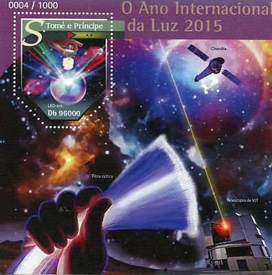 Sao Tome & Principe 2015 MNH UNESCO International Year of Light 1v S/S LED Orb