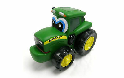 John Deere Push 'n' Roll Johnny Farm Tractor Push Along Toy New Tomy 42925 18m+