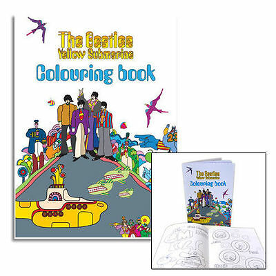 The Beatles - Yellow Submarine 20 Page Colouring Book - New & Official Apple