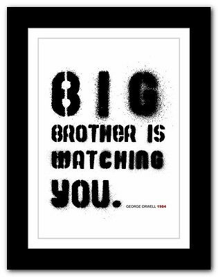 ❤ GEORGE ORWELL 1984 ❤ typography book quote poster art print inspirational #62