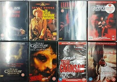 THE TEXAS CHAINSAW MASSACRE COMPLETE SAGA Movies 1 - 7 Cult Horror DVD *EXC*