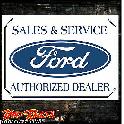 Classic Ford Sales Service Dealer Logo Garage Advertising Metal Tin Wall Signs