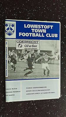 Lowestoft Town V Great Yarmouth Town 1998-99.