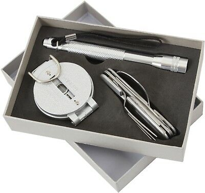 Campers Gift Set - Chow Set, Compass & Flashlight