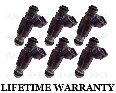18 Hole Upgraded Set of 6 Fuel Injectors for Nissan Armada Frontier Xterra 4.0L