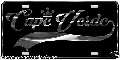 Cape Verde License Plate All Mirror Plate & Chrome and Regular Vinyl Choices