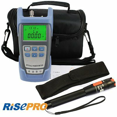 RisTech Fiber Optical Power Meter and 10km 10mW Visual Fault Locator Cable Test