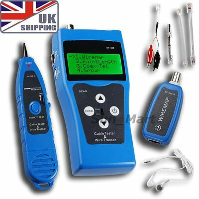 UK Network Ethernet LAN Tester Tracker Phone 5E RJ45 11 wire USB Cable coaxial
