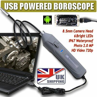 HD USB Video Photo Inspection Camera Endoscope Borescope Scope Android