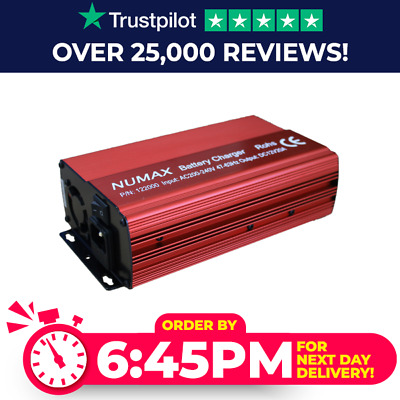 Numax 12V 20 Amp 20A Smart Battery Charger Conditioner - Car Leisure Caravan Etc
