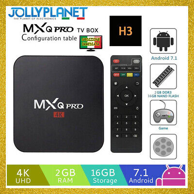 MXQ Pro Android Box 7.1 1GB 8GB Quad Core Amlogic S905W 4K Smart TV WIFI