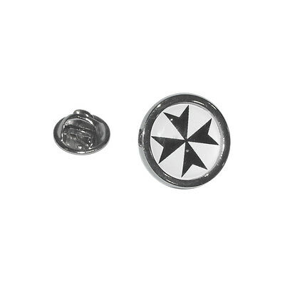Maltese Cross Lapel Pin Badge Malta