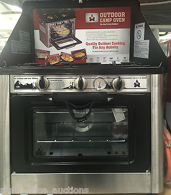CAMP CHEF Portable Outdoor Camping LPG Gas Oven Hob 2 Burners Rings BRAND NEW