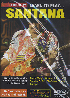 Learn to Play Carlos Santana Lick Library Guitar DVD Method Tuition How