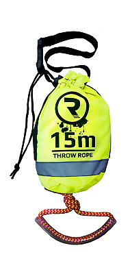 Throw Rope Buoyant Rescue Line for Yachts Canoes Kayaks etc - 15m x 8mm by Riber
