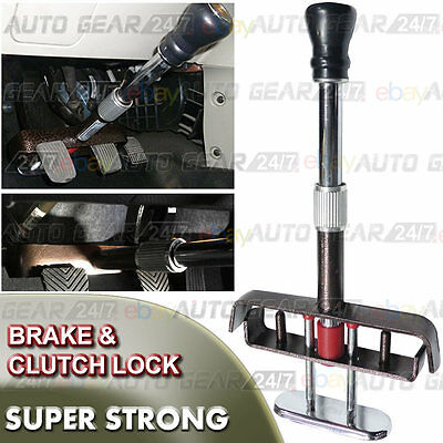 Car Van Brake Clutch Pedal Anti Theft Adjustable Strong Security Clamp Lock