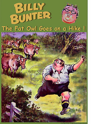 A4 Poster BILLY BUNTER Greyfriars School Magnet Valiant TV Comic Retro Art Print