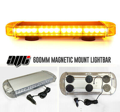 "600MM 24"" 4K Ultrabrite LED Amber Light Bar Beacon Hazard Recovery Vehicles"