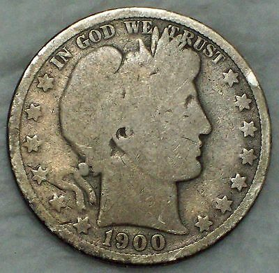 1900 O SILVER Barber Half Dollar Authentic US Coin - *PRICED TO SELL*